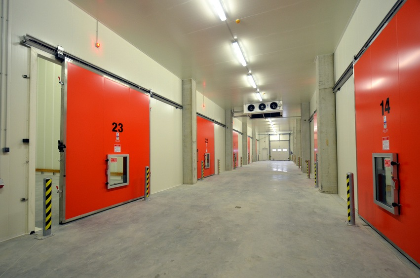 picture of a New Refrigerated Warehouse. Cold storage